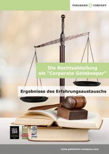 """Die Rechtsabteilung als """"Corporate Gatekeeper"""""""